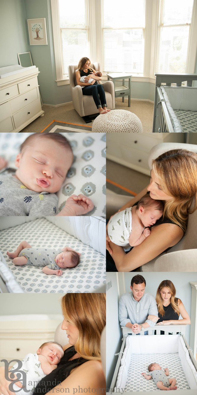 Newborn Nursery, Newborn Baby Boy, Amanda Anderson Photography, San Francisco Photographer