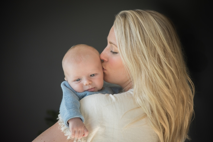 Mom-Boss photographed by Amanda Anderson with newborn baby boy.